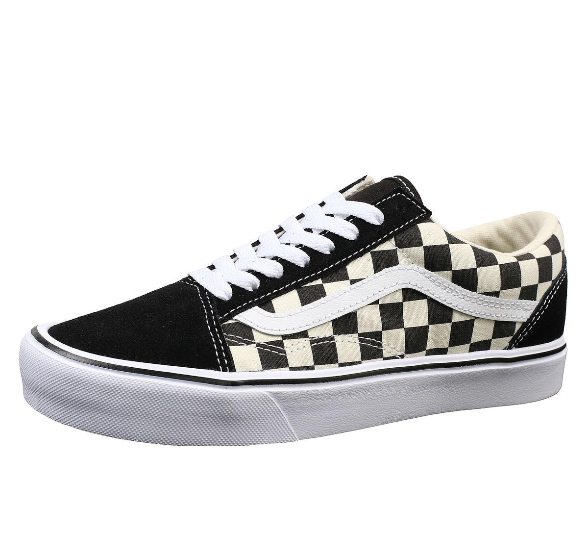boty VANS UA OLD SKOOL LITE (Checkerboard) Black White