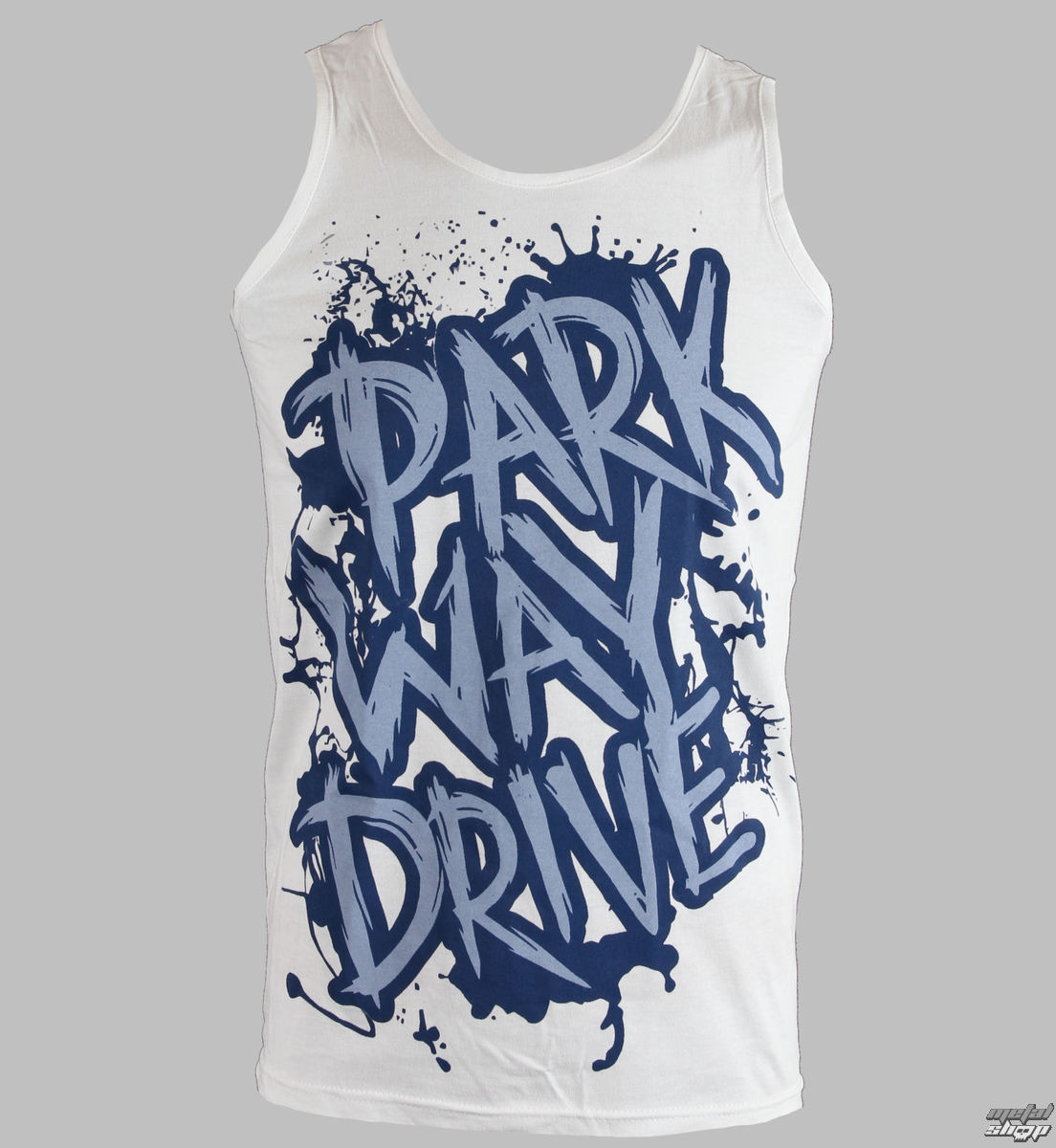 t-shirt uomo Parkway Drive - Blu Logo - White - KINGS ROAD