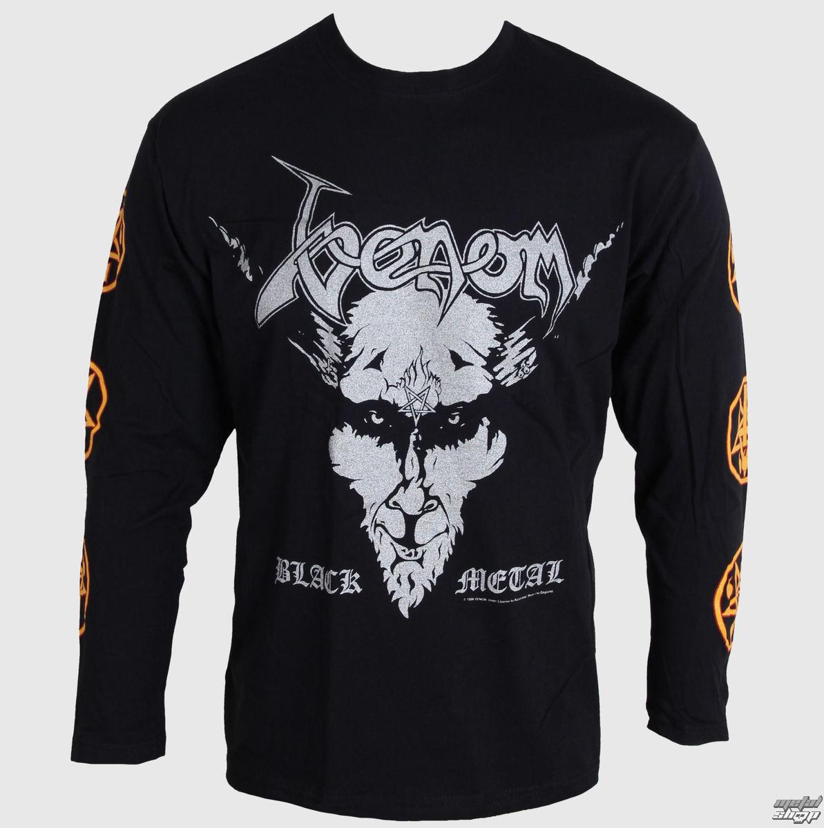 Con Uomo T Venom Lunghe Metal Maniche Nero Razamataz Shirt mN0w8nv