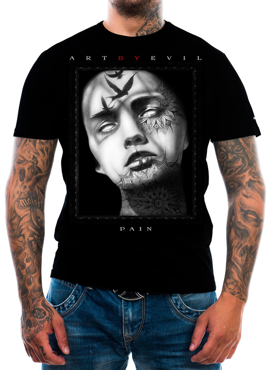 t-shirt uomo - Pain - ART BY EVIL