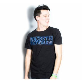 t-shirt street uomo - Embossed - MACBETH - Black Premium