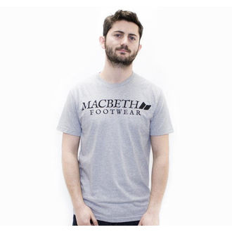 t-shirt street uomo - Vintage Logo - MACBETH - Heather Grey Classic