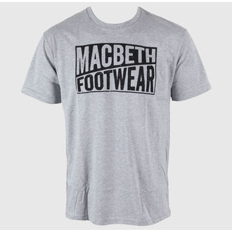 t-shirt street uomo - Old Type - MACBETH - Heather Grey Classic