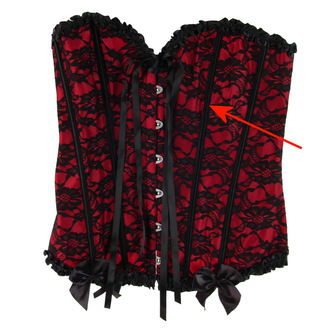 corsetto da donna HEARTS AND ROSES - Red With Black Net - DANNEGGIATO, HEARTS AND ROSES