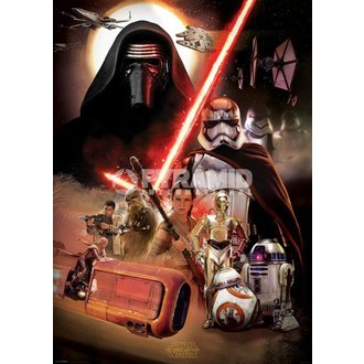 poster Star Wars - Episodio VII (Montage) - PYRAMID POSTER, PYRAMID POSTERS