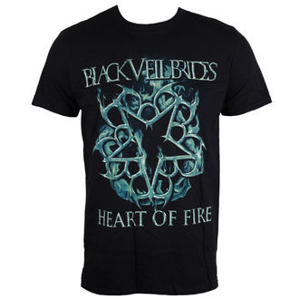 t-shirt metal uomo Black Veil Brides - Heart Of Fire - LIVE NATION, LIVE NATION, Black Veil Brides