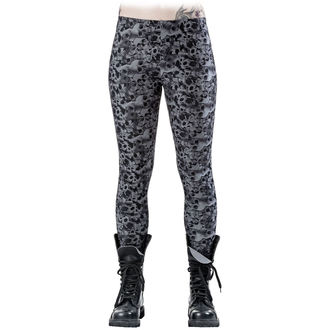 Pantaloni donna (leggins) QUEEN OF DARKNESS - Skulls and Roses, QUEEN OF DARKNESS