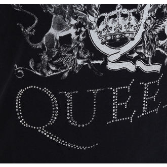 t-shirt metal donna Queen - Logo - ROCK OFF, ROCK OFF, Queen