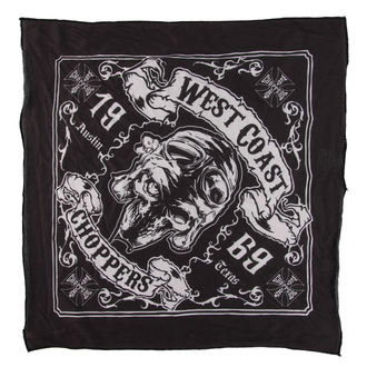 fazzoletto West Coast Choppers - SKULL 13 - NERO, West Coast Choppers
