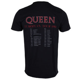 t-shirt metal uomo Queen - European Tour 1984 - ROCK OFF, ROCK OFF, Queen