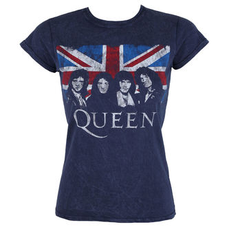 t-shirt metal donna Queen - Denim - ROCK OFF, ROCK OFF, Queen
