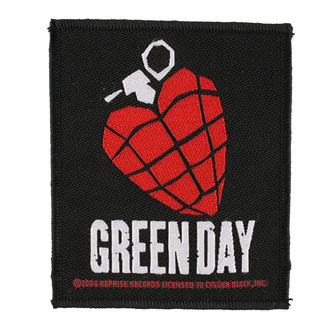 toppa GREEN DAY - HEART GRENADE 1 - RAZAMATAZ, RAZAMATAZ, Green Day