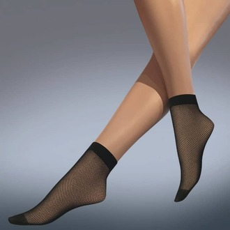 calzini (collant) LEGWEAR - fishnet ankle highs - nero, LEGWEAR