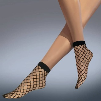 calzini (collant) LEGWEAR - whale net ankle highs - nero, LEGWEAR